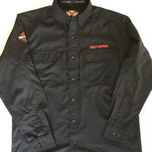 Harley-Davidson buttoned down long sleeve shirt